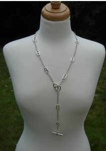 Sterling Silver Anchor Link Long Necklace