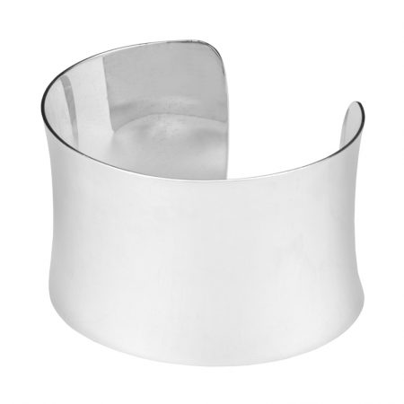 Sterling Silver Statement Concave Cuff