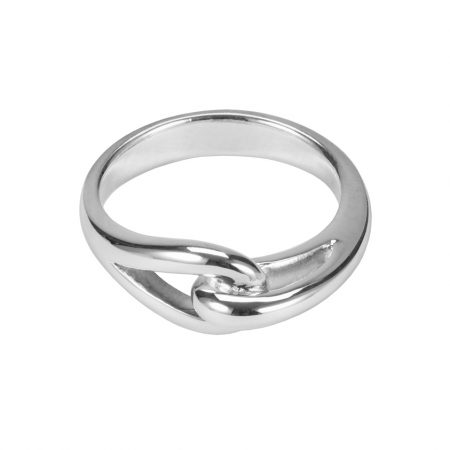 Interlocking Loop Silver Ring