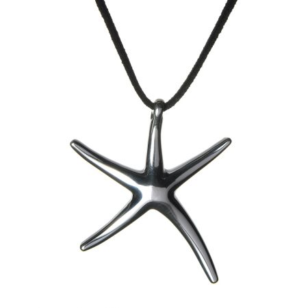 Large Sterling Silver Starfish Necklace