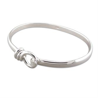 Silver Classic Hook Bangle