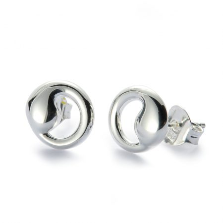 Silver Yin Yang Earrings