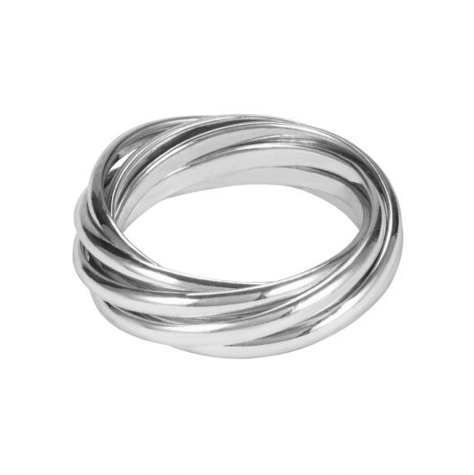 Silver Seven Strand Puzzle Ring