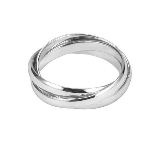 Silver Three Strand Puzzle Ring