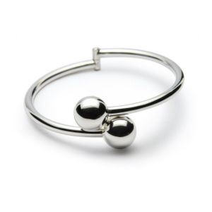 Sterling Silver Double Ball Bracelet