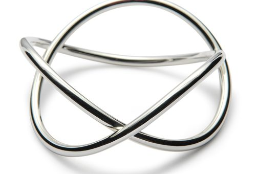 Handmade Sterling Silver Helix Bangle