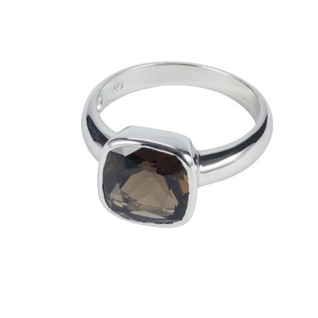 Sterling Silver and Smoky Quartz Ring