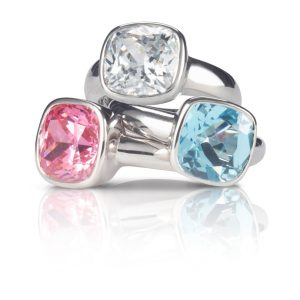 Gem and Silver Rings