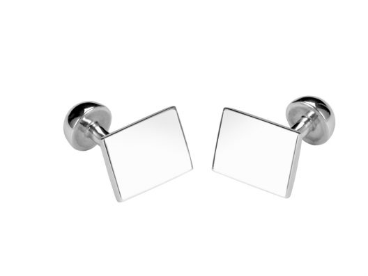 Sterling Silver Rectangular Cuffllinks