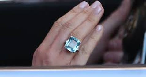 Sparkle like Markle with our Blue Topaz Ring