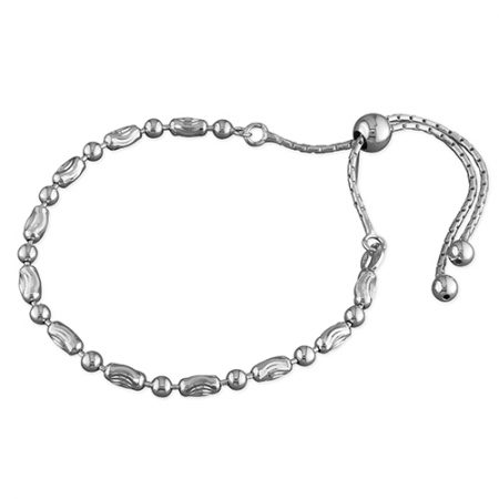 Silver Pebble Slider Bracelet
