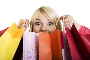 Woman Shopping with Bags