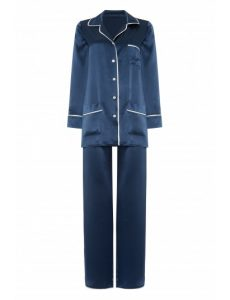 navy silk pyjama gingerlily