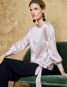 silk evening top purecollection