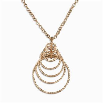 Rose Diamond Cut Concentric Circle Necklace