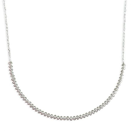 Silver Drops Bead Necklace