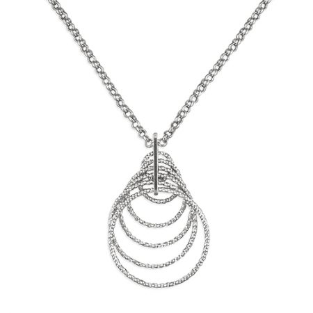 Diamond-Cut Concentric Circle Necklace