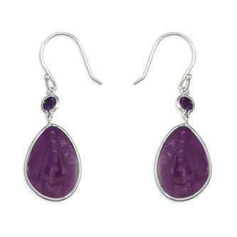 Amethyst Mother & Child Drop Earring