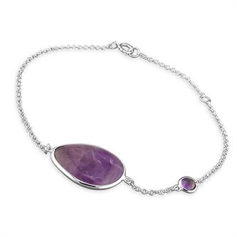 Amethyst Mother & Child bracelet