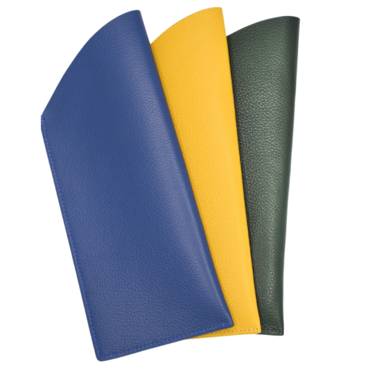 Leather Glasses Cases Blue Yellow Green