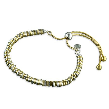 Gold & Silver Continual Loops Slider Bracelet