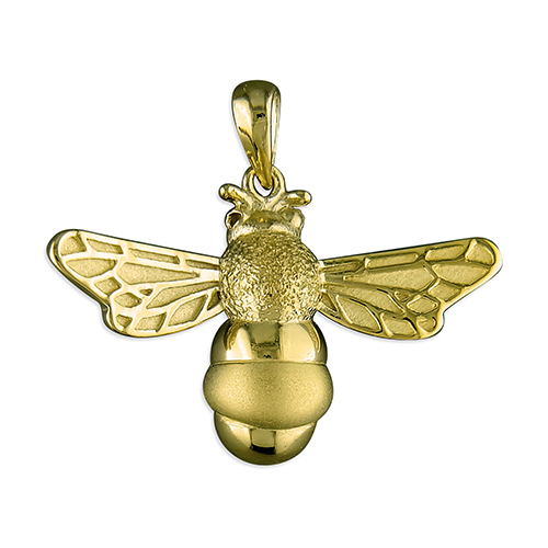 Gold Bumble Bee Necklace