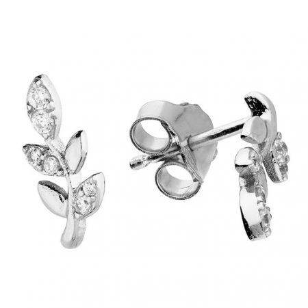 Petite Leaf Stud Earrings