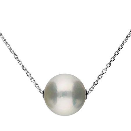 Single Pearl on Silver Chain